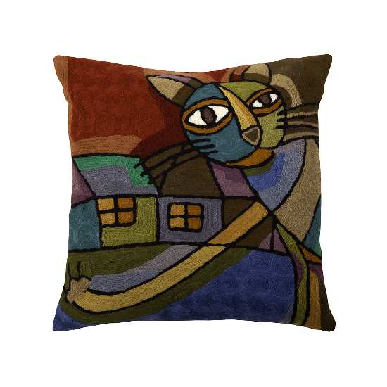 povlak ART WOOL cat multi